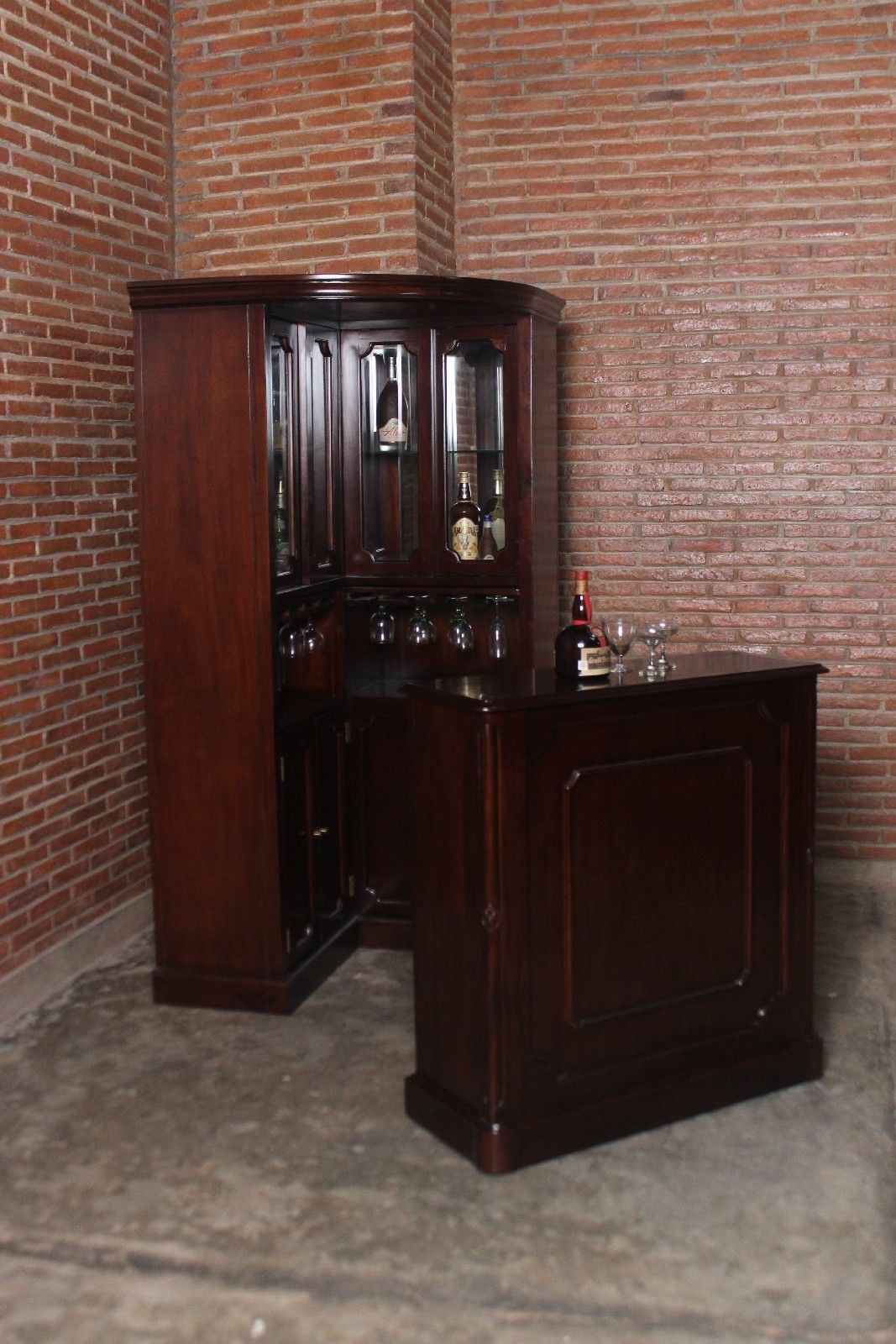 Corner Curio Bar Cabinet Furniture Home Bars Home Bars throughout sizing 1067 X 1600