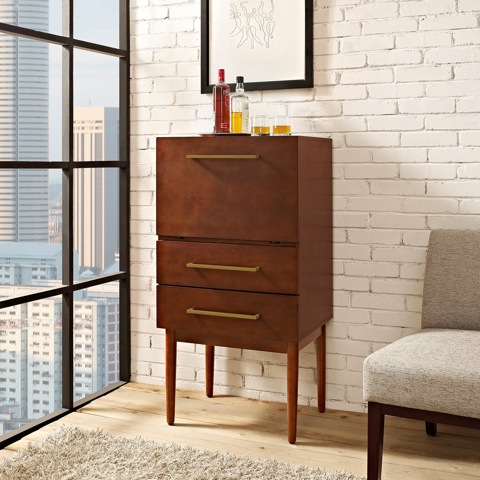 Crosley Everett Spirit Cabinet Mahogany In 2019 Products pertaining to measurements 1600 X 1600