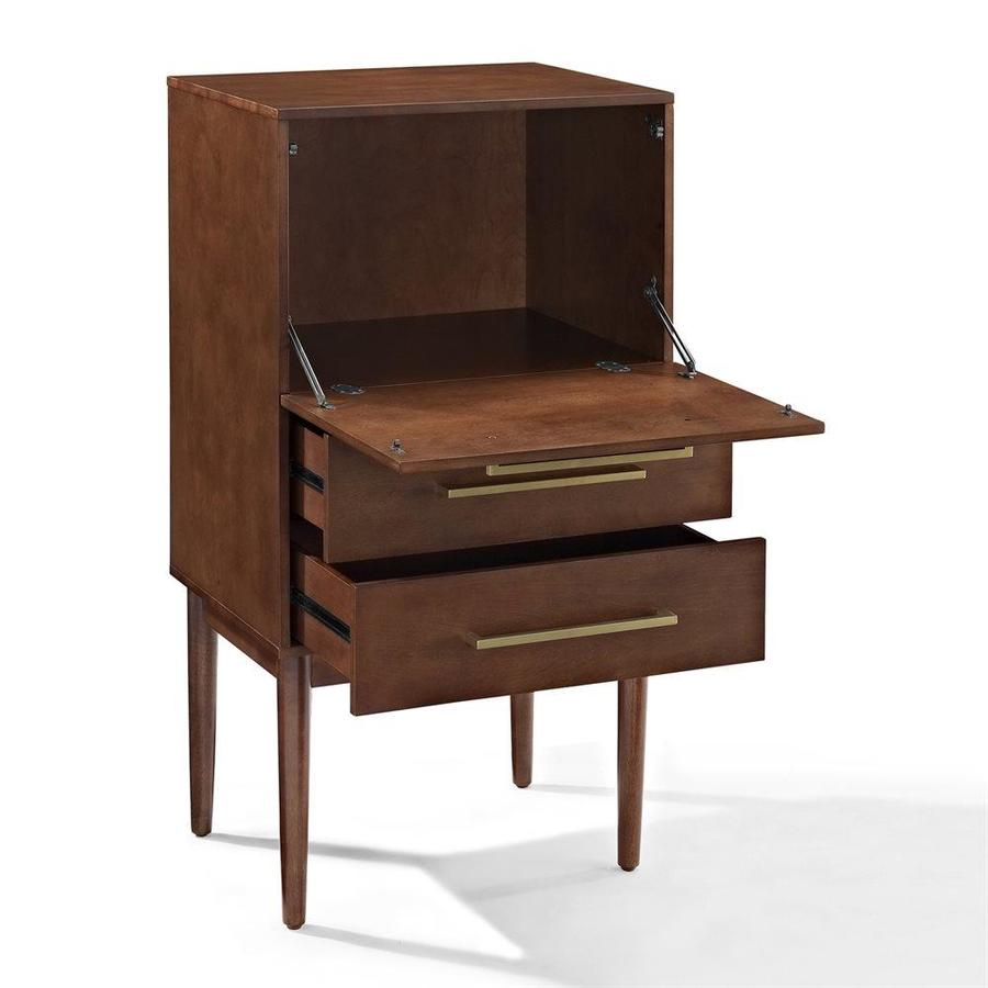 Crosley Furniture Everett 4725 In X 245 In Mahogany Spirit Cabinet pertaining to size 900 X 900