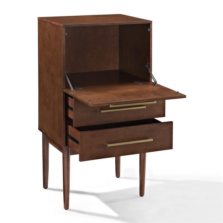 Crosley Furniture Everett 4725 In X 245 In Mahogany Spirit Cabinet with regard to measurements 900 X 900