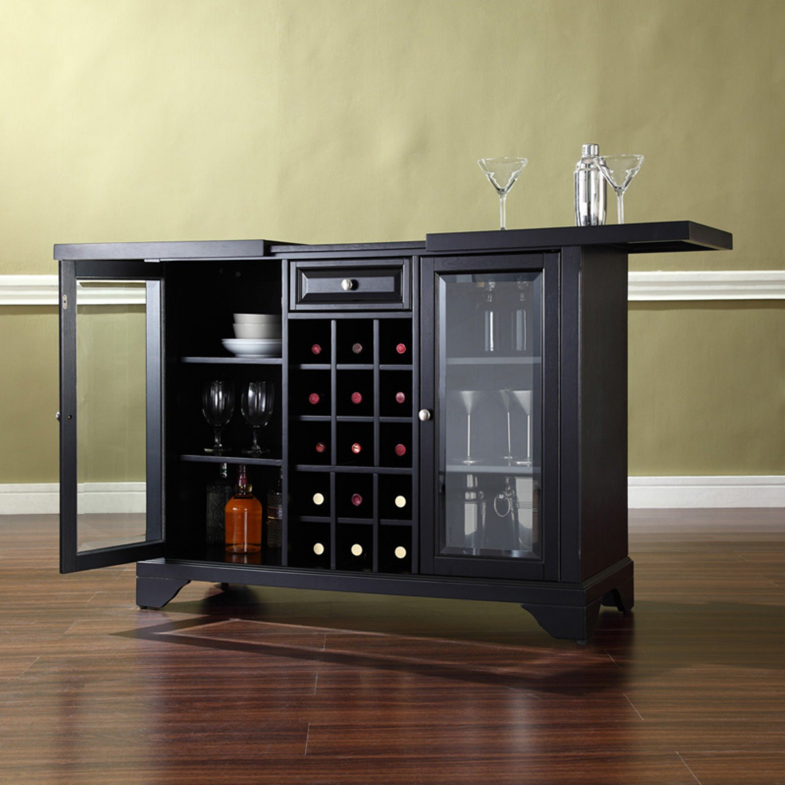 Crosley Lafayette Expandable Bar Cabinet • Cabinet Ideas