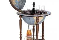 Da Vinci Floorstanding Globe Drinks Cabinet On Wheels with sizing 1080 X 1346