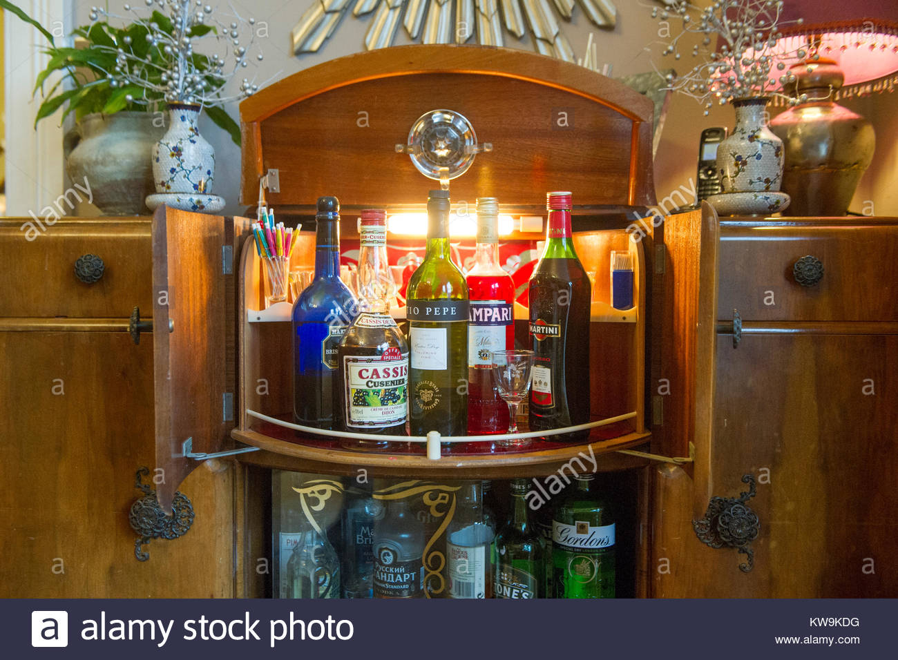 Drinks Cabinet Stock Photos Drinks Cabinet Stock Images with regard to dimensions 1300 X 956