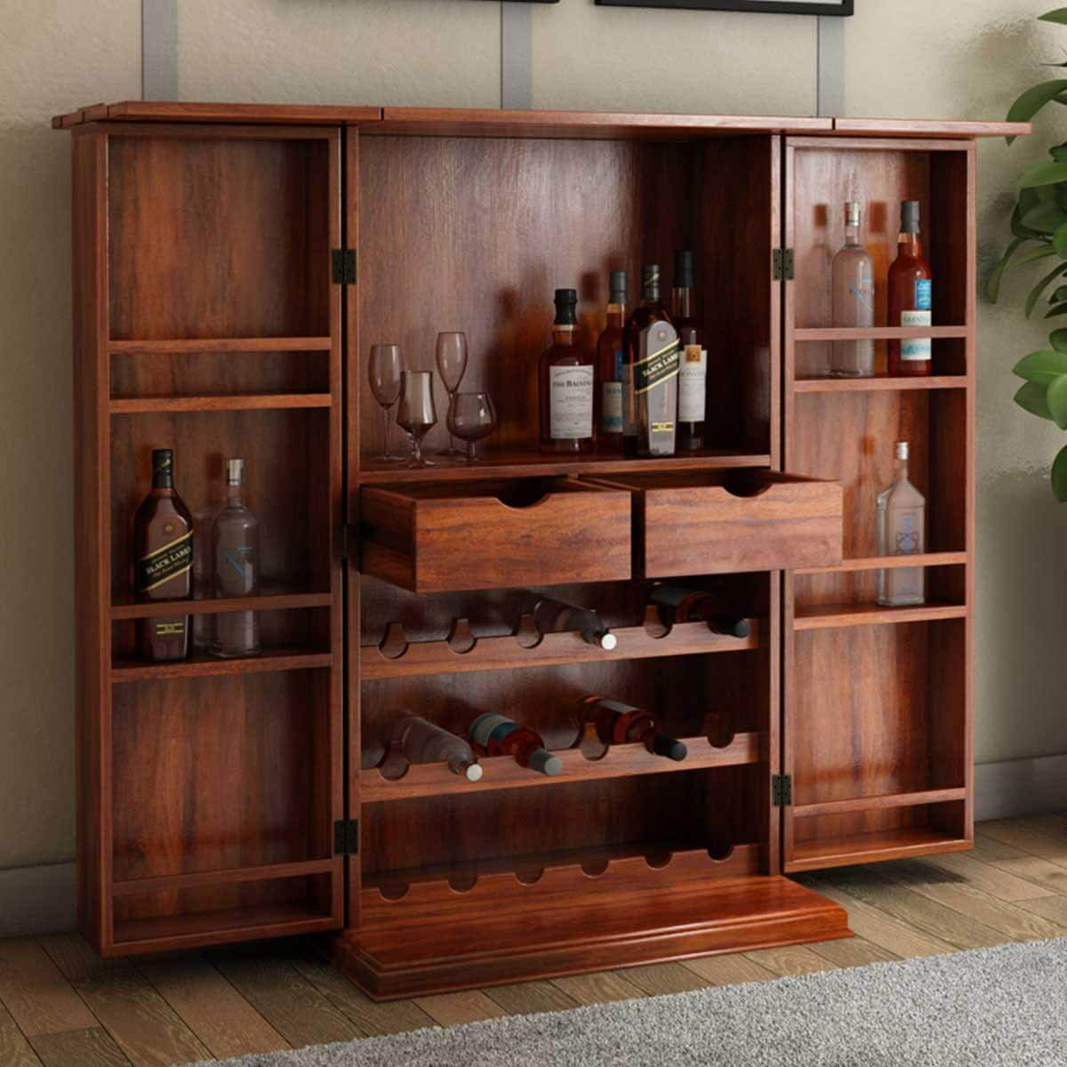 Expandable Home Wine Bar Cabinet With Bottle Storage for measurements 1200 X 1200
