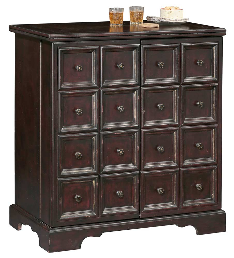 Expanding Antique Console Wine Bar Portable Cabinet 695160 Howard Miller in sizing 905 X 1000