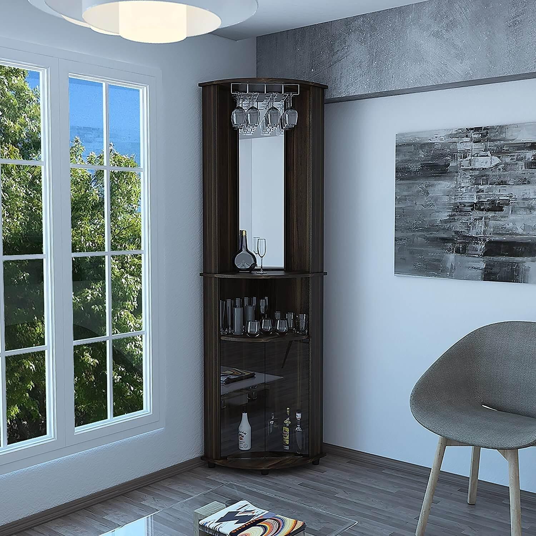 Furniture Black Corner Bar Cabinet With Chairs Corner Bar in sizing 1500 X 1500