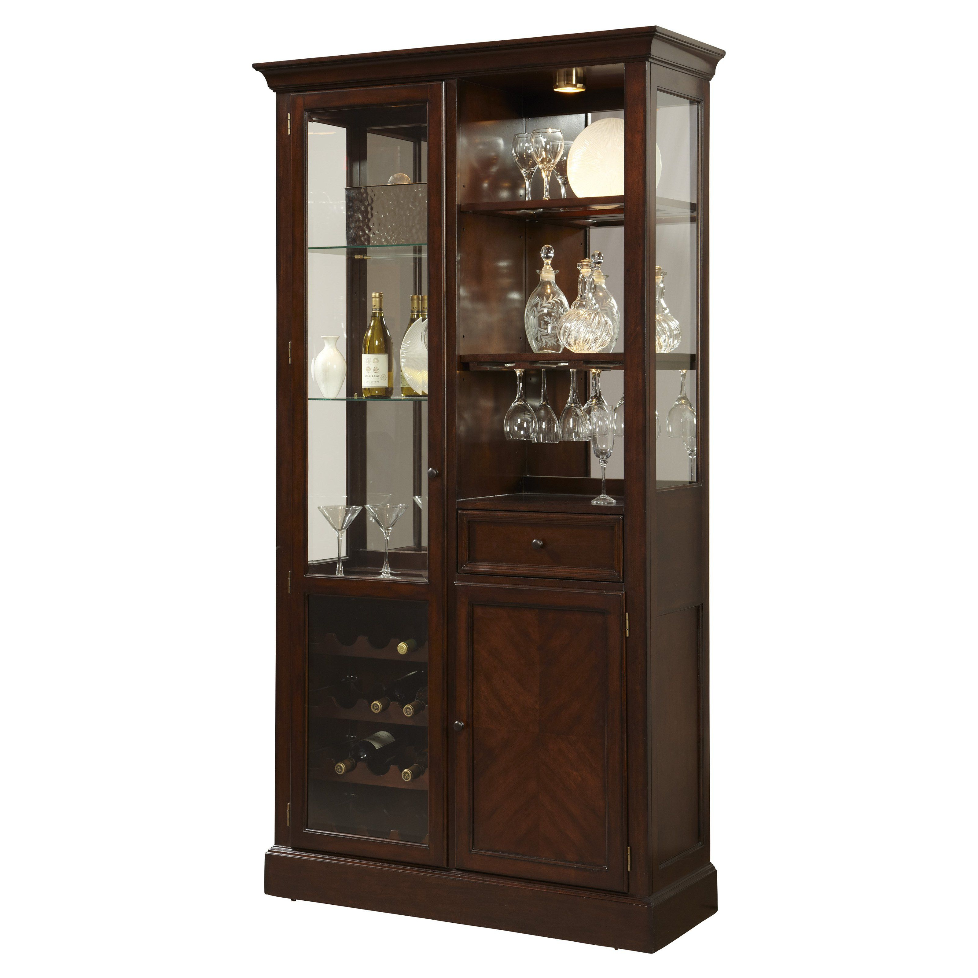 Have To Have It Pulaski Dark Wood Curio Bar Cabinet within sizing 3200 X 3200
