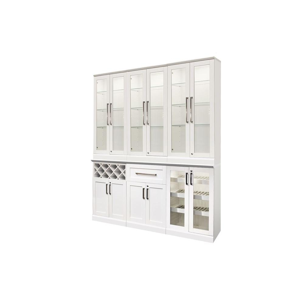 Home Bar White 7 Piece Shaker Style Bar Cabinet White with proportions 1000 X 1000