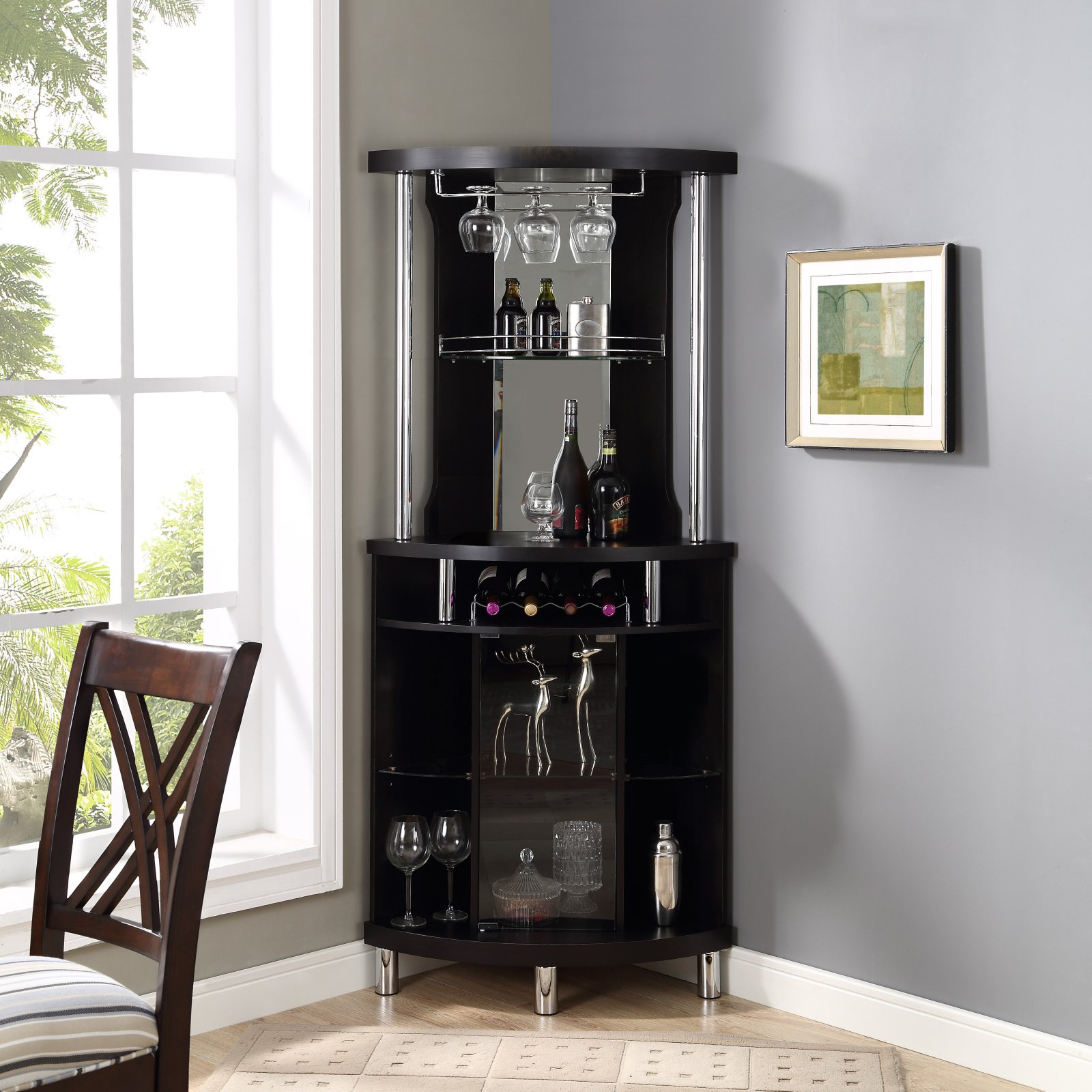 Home Source Industries Black Corner Bar Products In 2019 regarding size 1600 X 1600