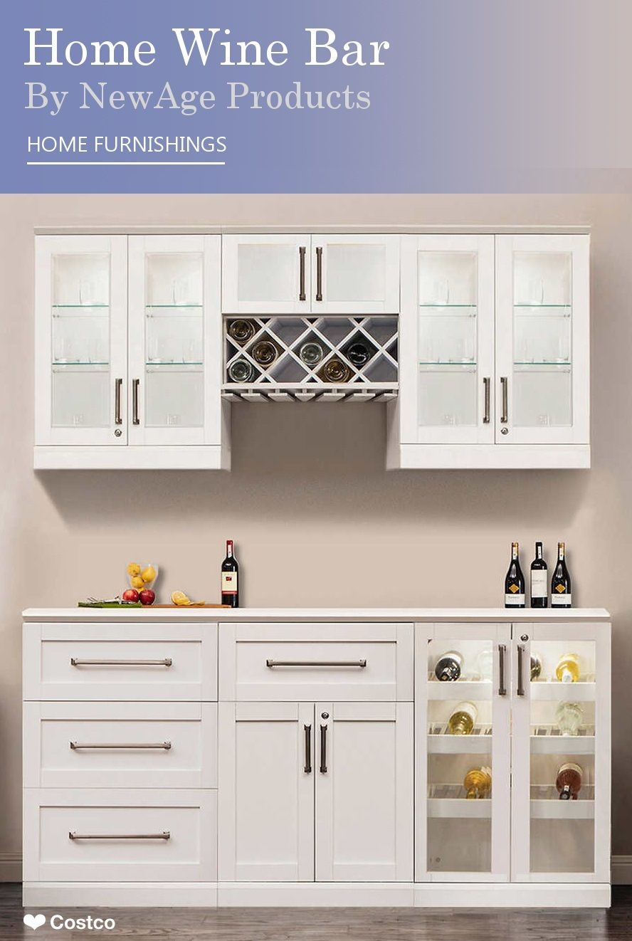 Home Wine Bar 7 Piece Cabinetry Set Newage Products throughout measurements 888 X 1322