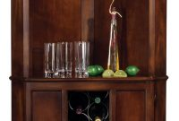 Howard Miller Piedmont Rustic Cherry Corner Bar Cabinet within sizing 877 X 2000