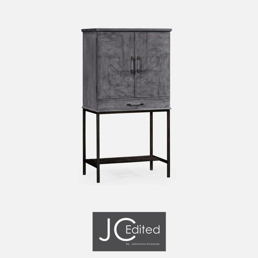 Jonathan Charles Antique Dark Grey Bar Cabinet within measurements 1024 X 1024