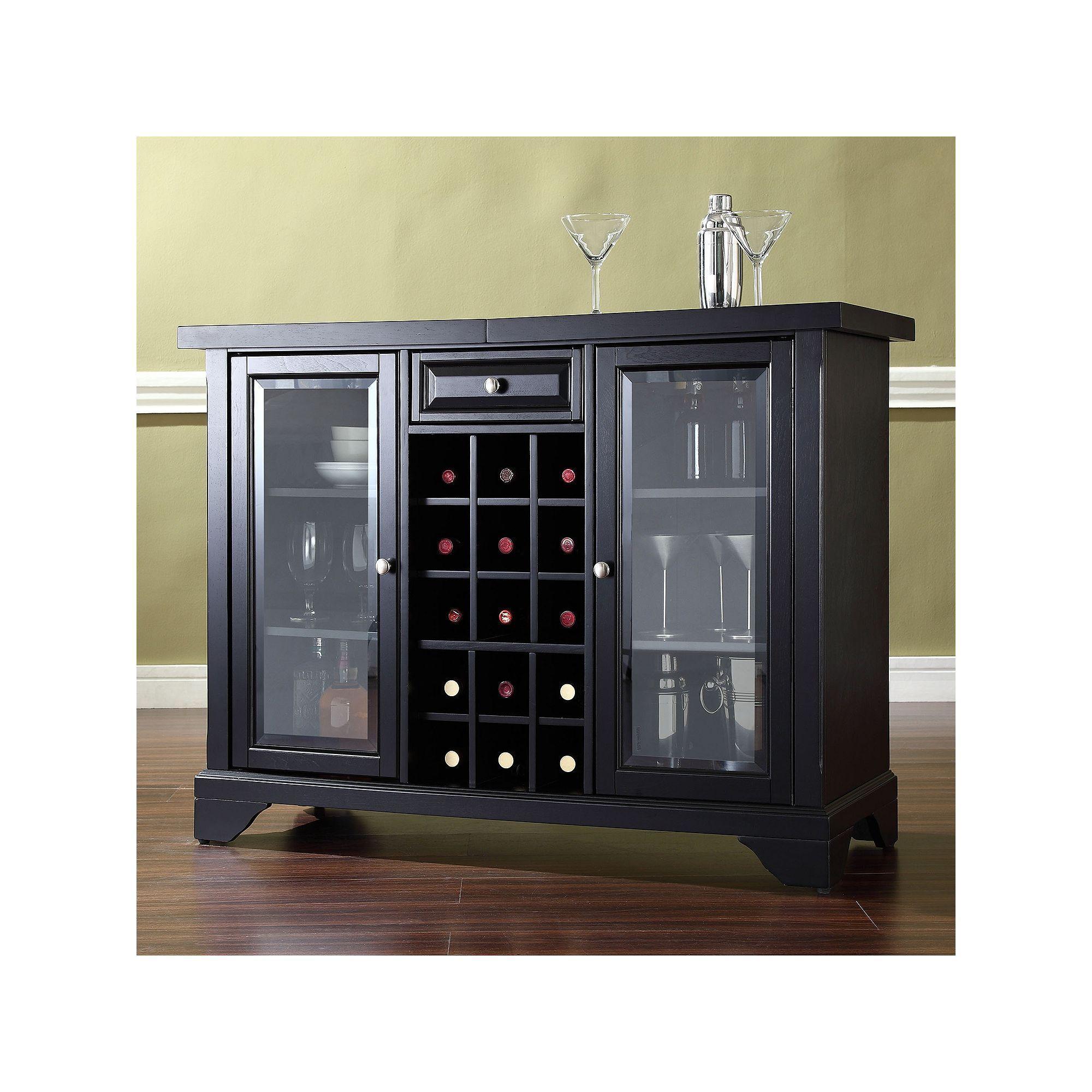 Lafayette Crosley Furniture Sliding Top Bar Cabinet in measurements 2000 X 2000