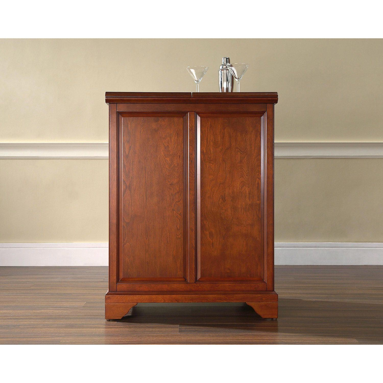 Lafayette Expandable Bar Cabinet Cherry D Kf40001bch pertaining to sizing 1500 X 1500