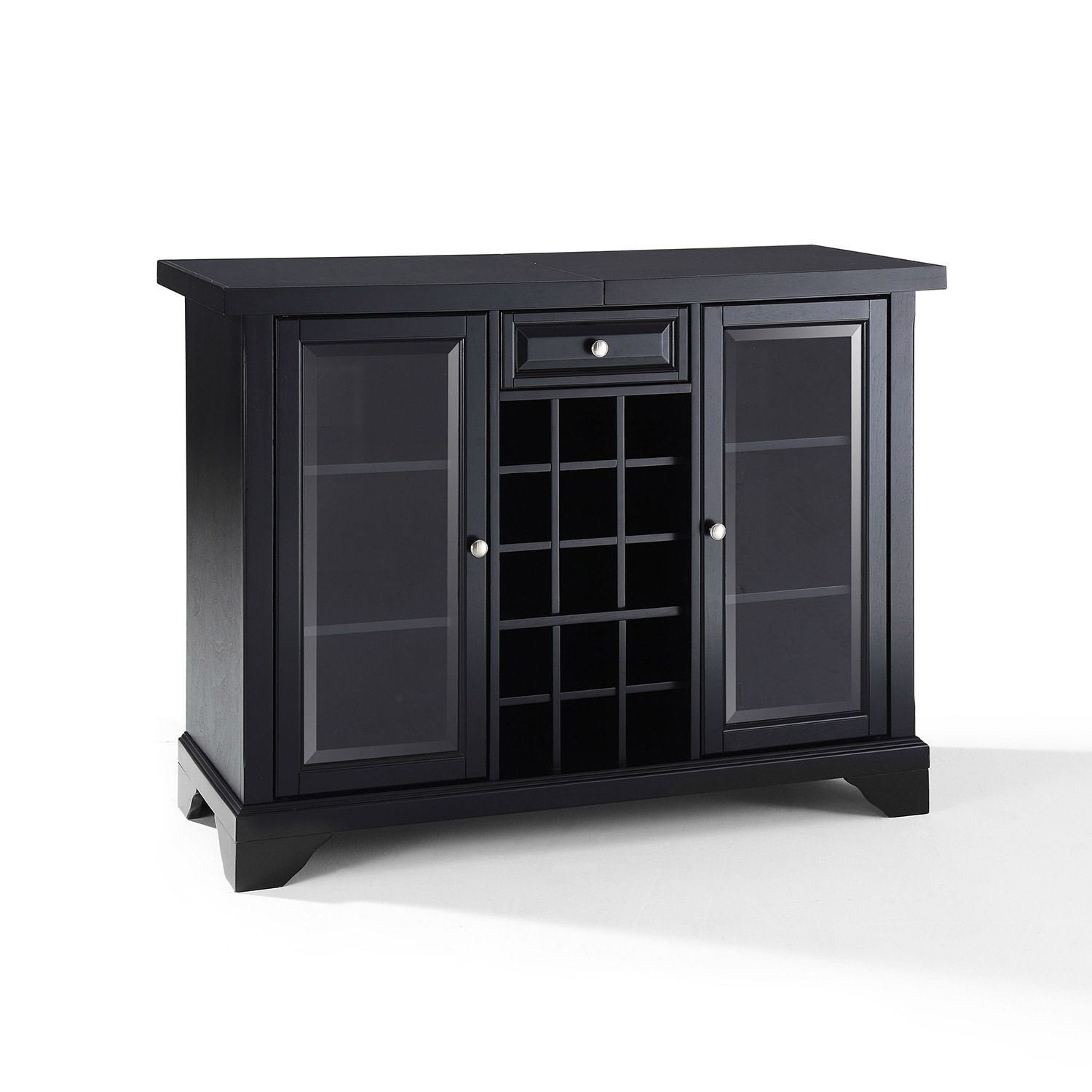 Lafayette Sliding Top Bar Cabinet Black D inside sizing 1500 X 1500