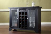 Lafayette Sliding Top Bar Cabinet In Black Finish regarding measurements 3000 X 3000
