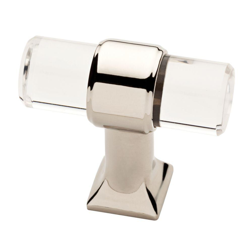 Liberty 1 916 In 40 Mm Polished Nickel And Clear Acrylic Bar Cabinet Knob in dimensions 1000 X 1000