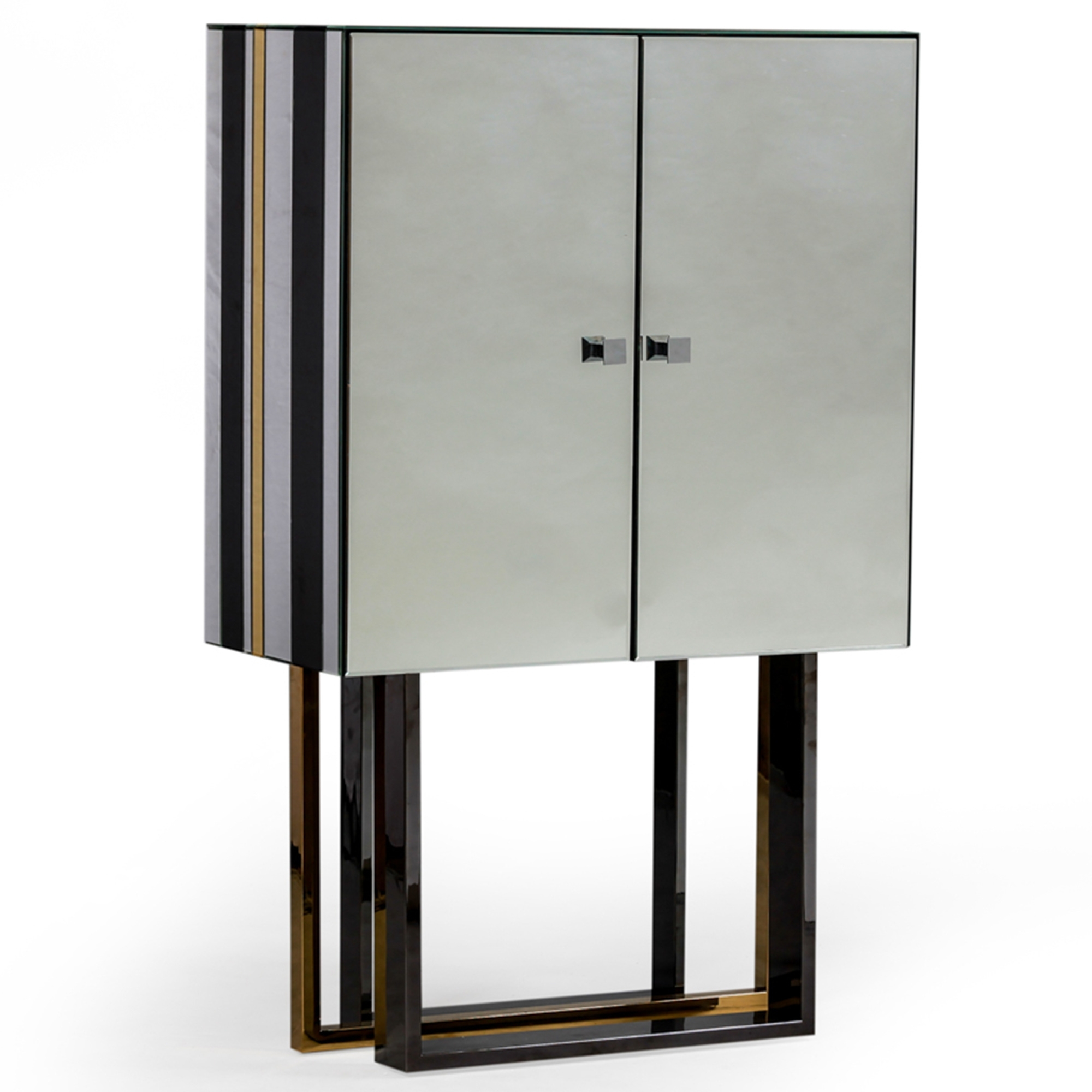 Milano Deco Mirrored Bar Cabinet intended for measurements 2000 X 2000