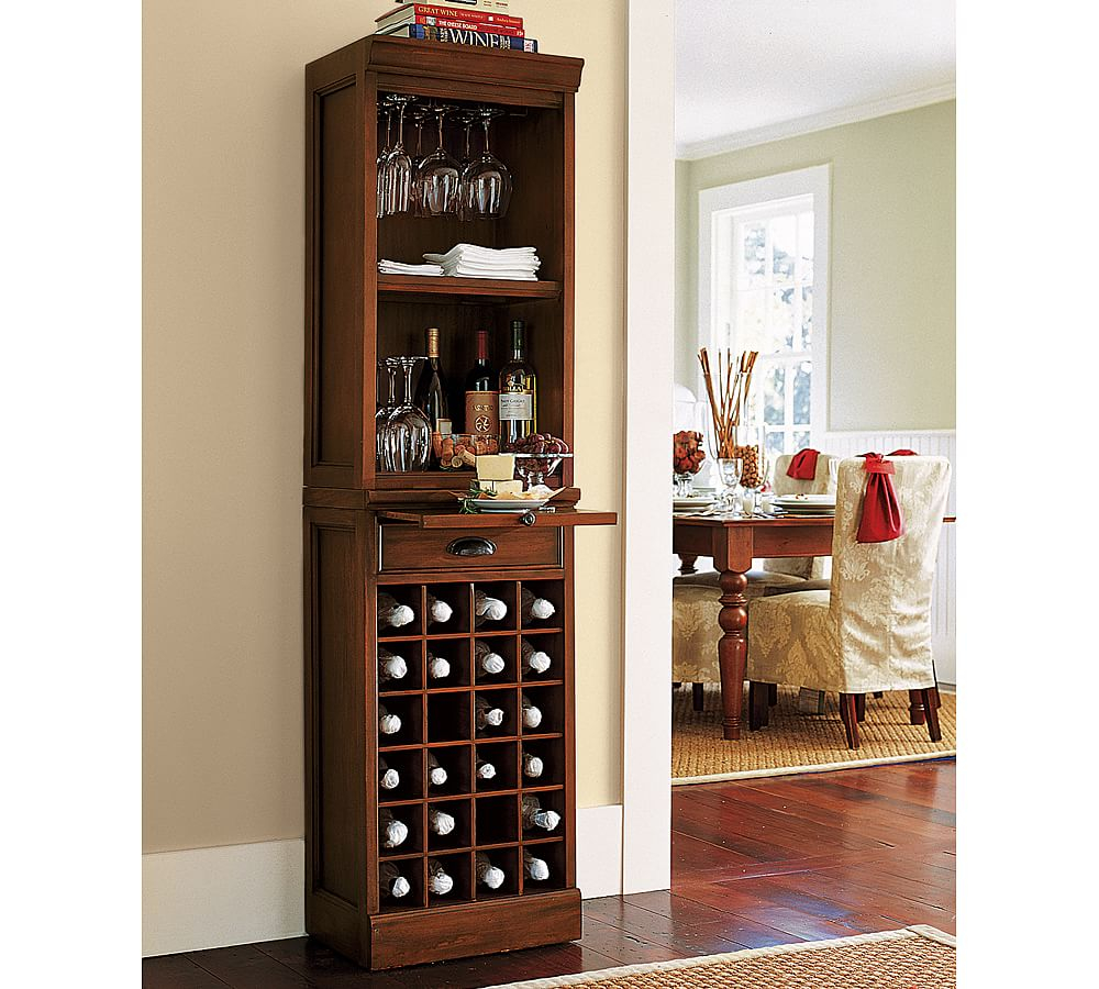 Modular Wine Grid Cabinet Bar Tower Mahogany Stain Wine in dimensions 1000 X 900