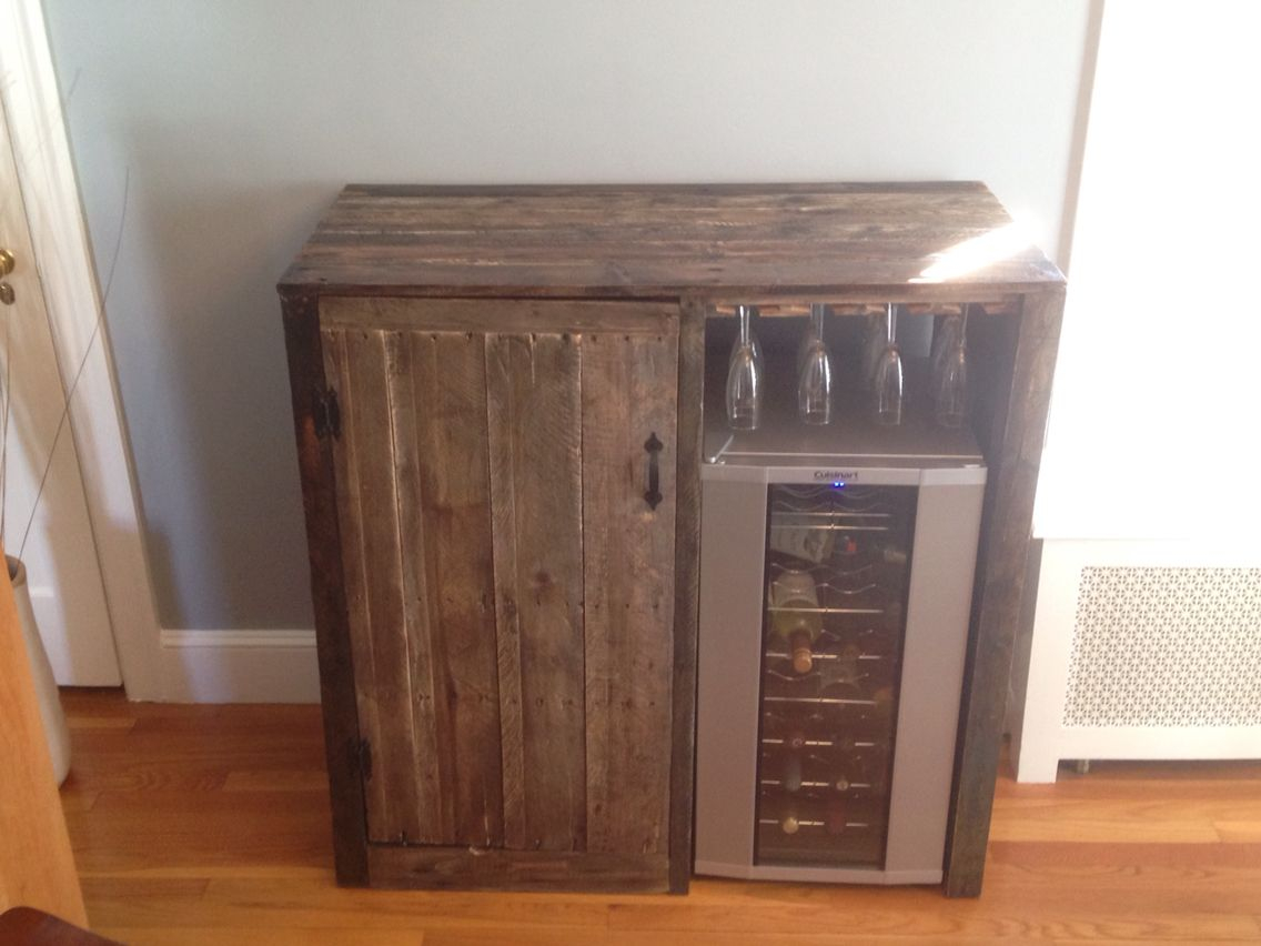 My First Pallet Project Rustic Liquor Cabinet With Built In for sizing 1136 X 852
