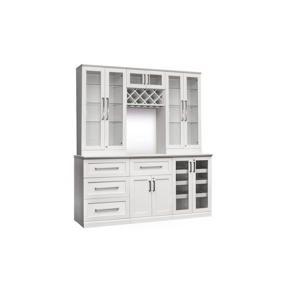 Newage Products Home Bar 7 Piece White Shaker Style Bar in dimensions 1000 X 1000