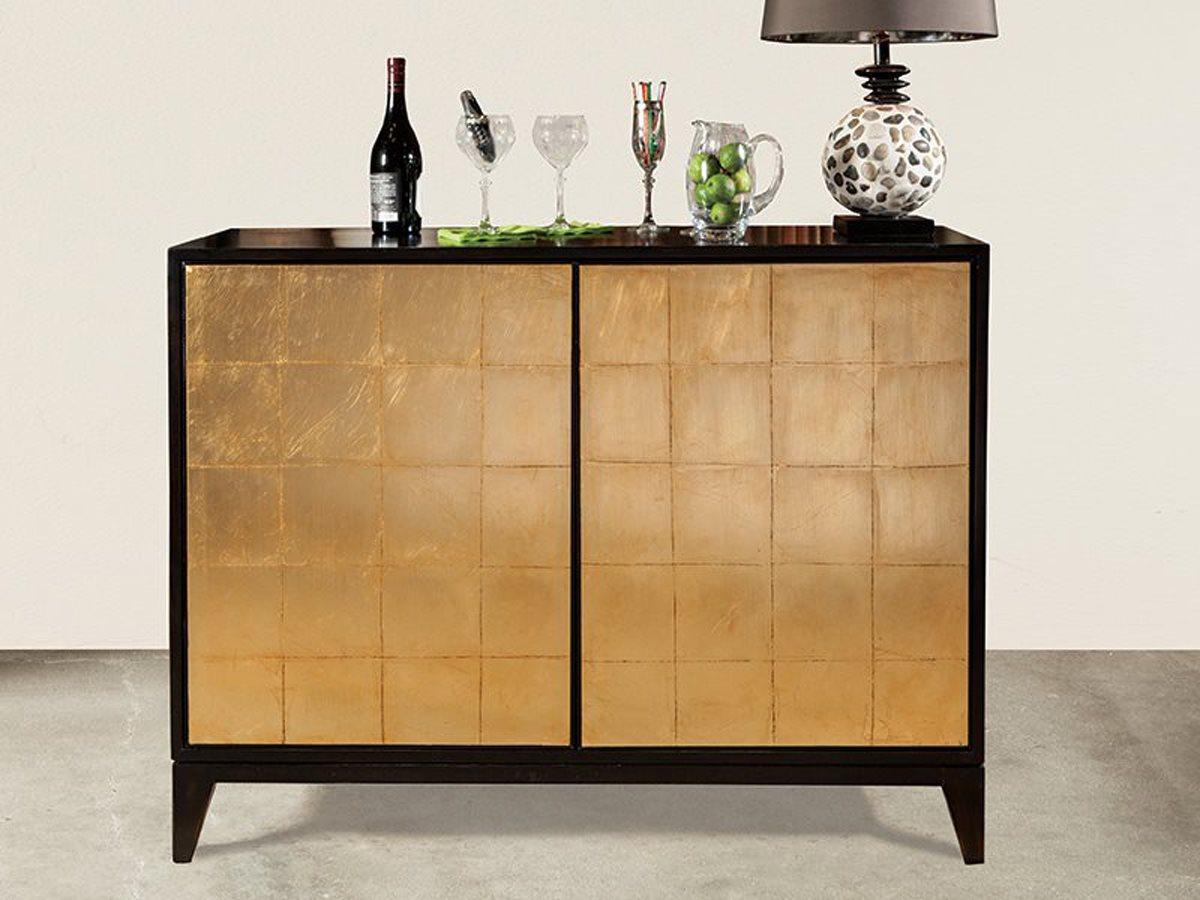Port Eliot Antique Black Gold Bar Cabinet intended for dimensions 1200 X 900