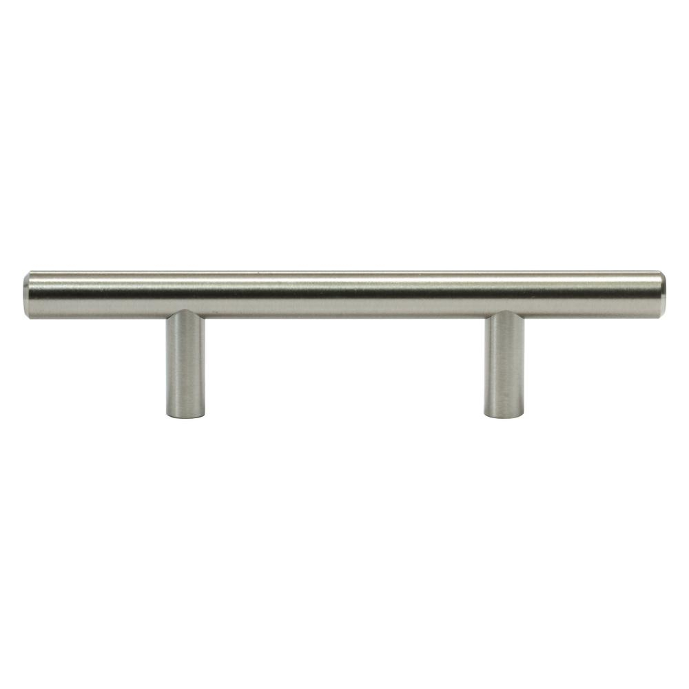 Rok Solid 3 In 76 Mm Center To Center Brushed Nickel Kitchen Cabinet Drawer T Bar Pull Handle Pull 6 In L with regard to measurements 1000 X 1000