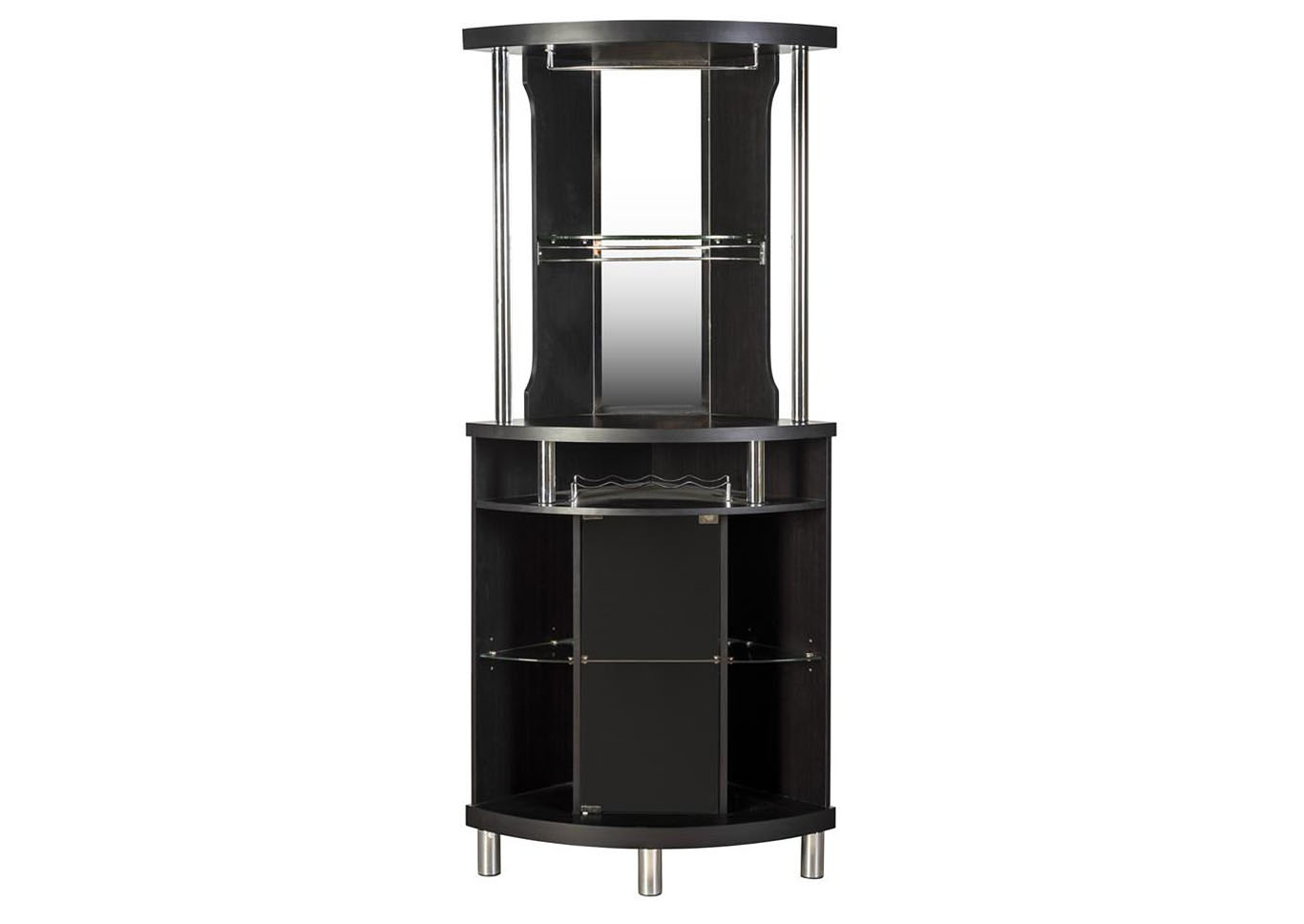 Roses Flooring And Furniture Black Corner Bar Unit pertaining to dimensions 1366 X 968