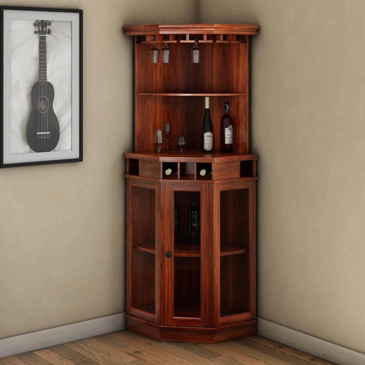 Solid Wood Corner Liquor Cabinet With Glass Doors with regard to measurements 1200 X 1200