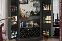 Tall Decorative Panel Locking Door Black Wine Bar Cabinet 695142 Howard Miller throughout size 900 X 893