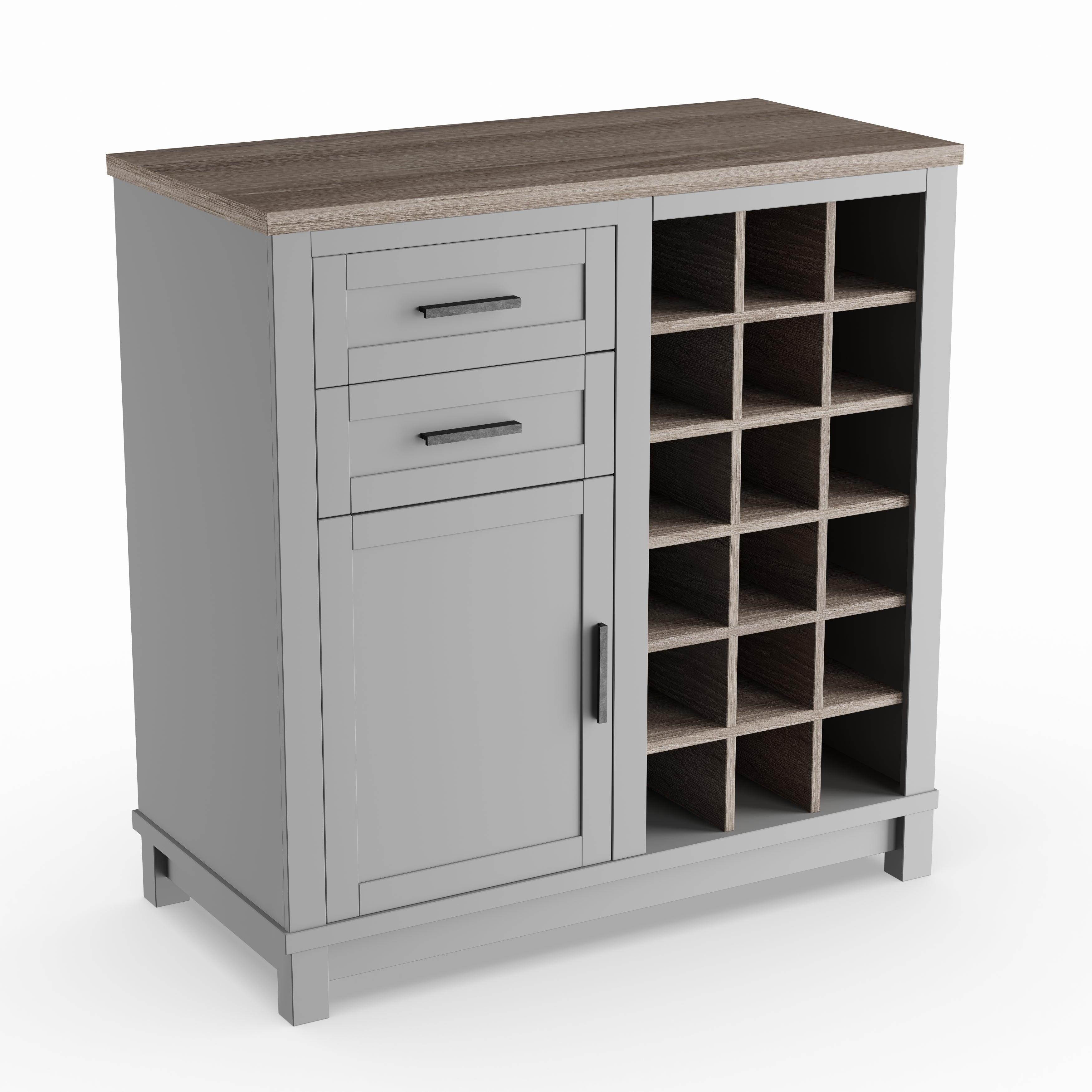 The Gray Barn Bonnie Wood Carver Grey Sonoma Oak Bar Cabinet within sizing 3500 X 3500