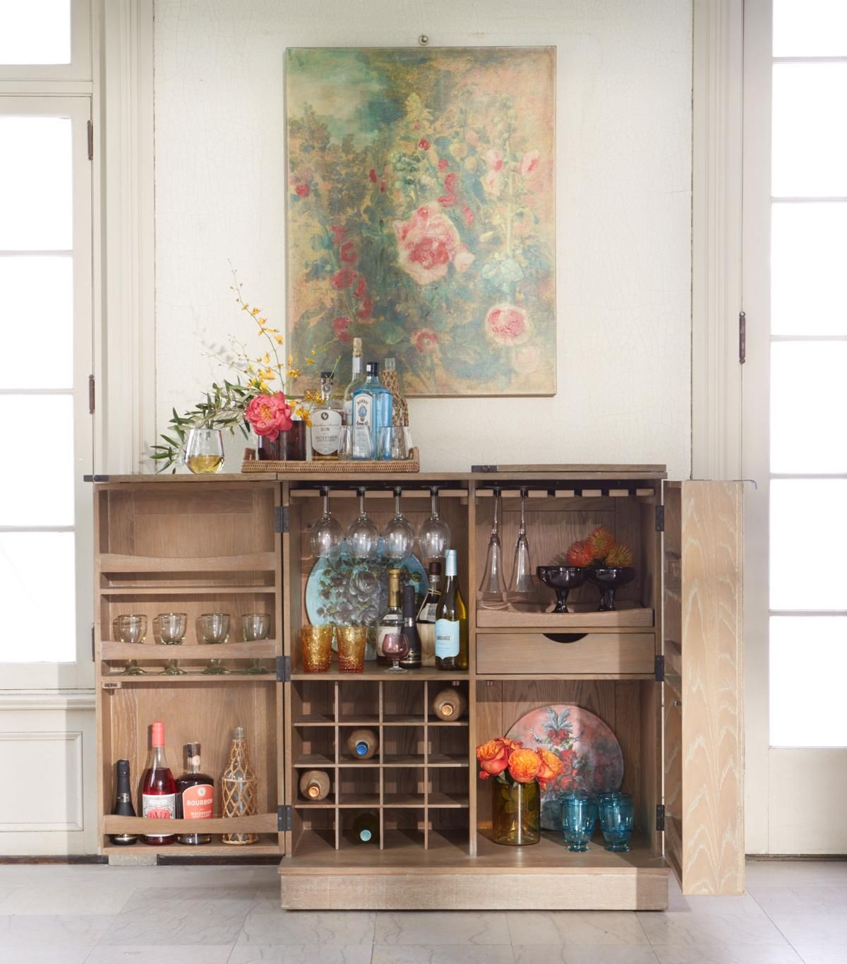 The Sutter Wine Bar Also Available In Black Finish Arhaus with regard to size 1200 X 1365