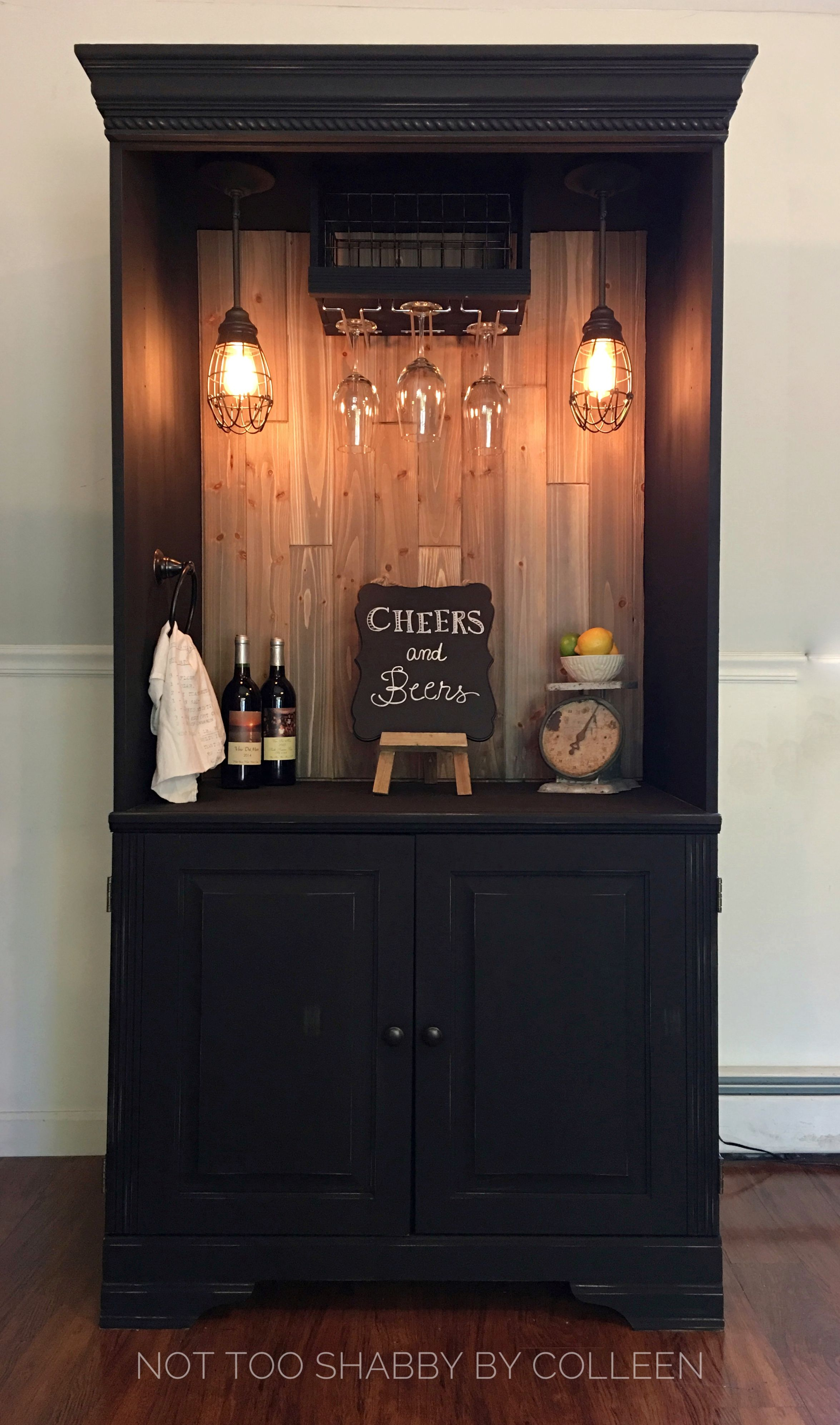 Upcycled Repurposed Armoire Converted Into A Dry Bar with size 2350 X 3986