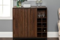 Walker Edison Furniture Company Dark Walnut Bar Cabinet With inside sizing 1000 X 1000