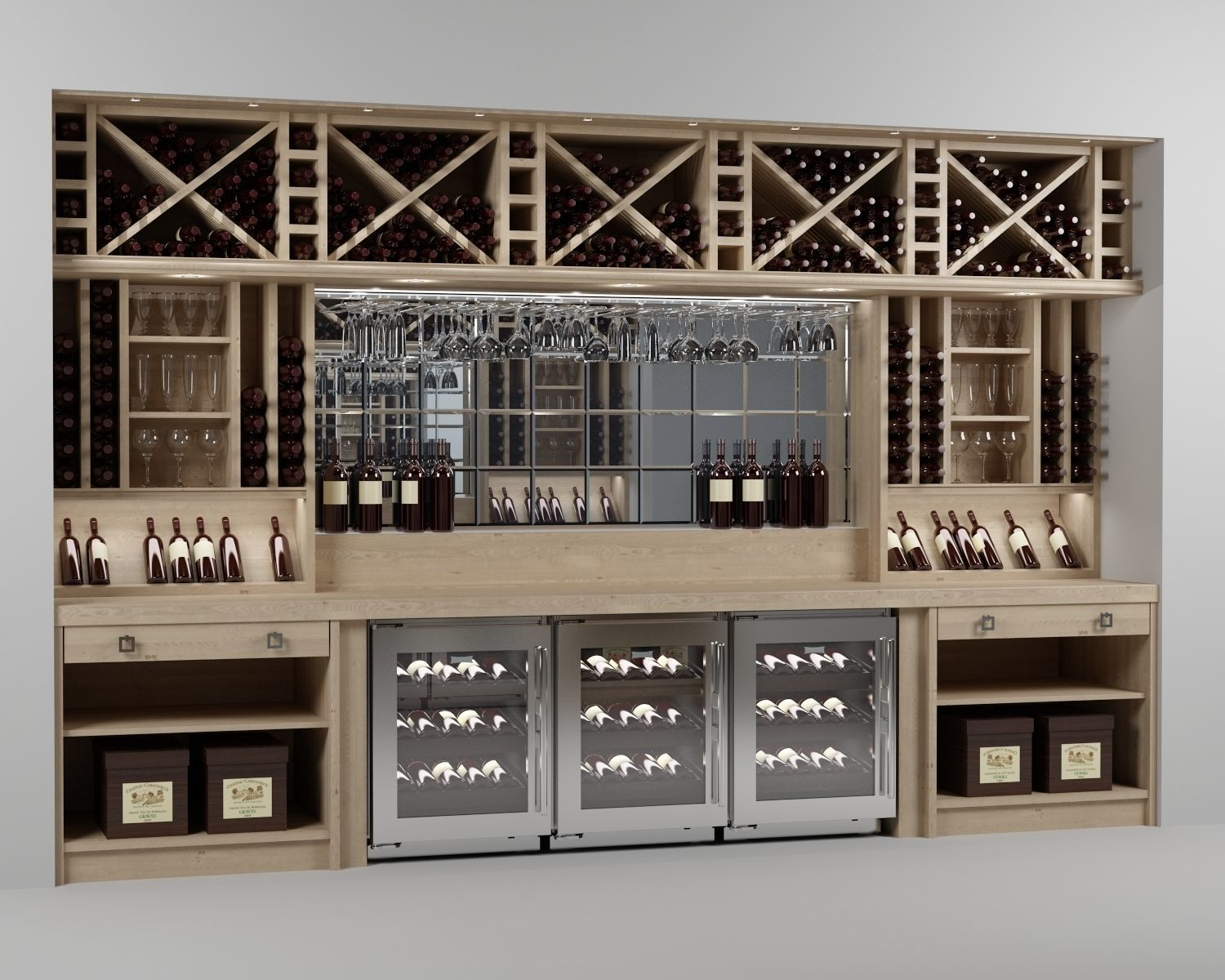 Wine Bar 3d Model pertaining to sizing 1500 X 1200