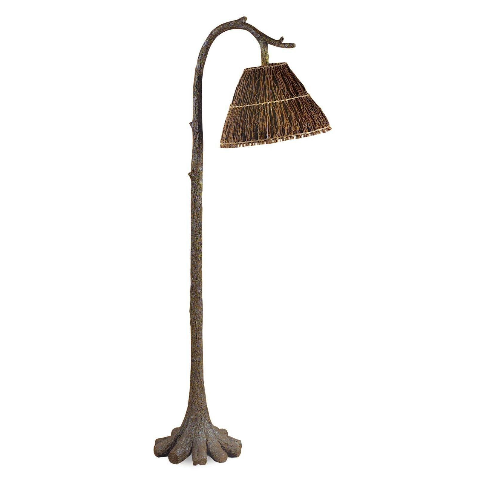 585 H Tree Trunk Floor Lamp With Twig Shade Rustic Cabin Lodge Decor Cfl1775 in measurements 1600 X 1600