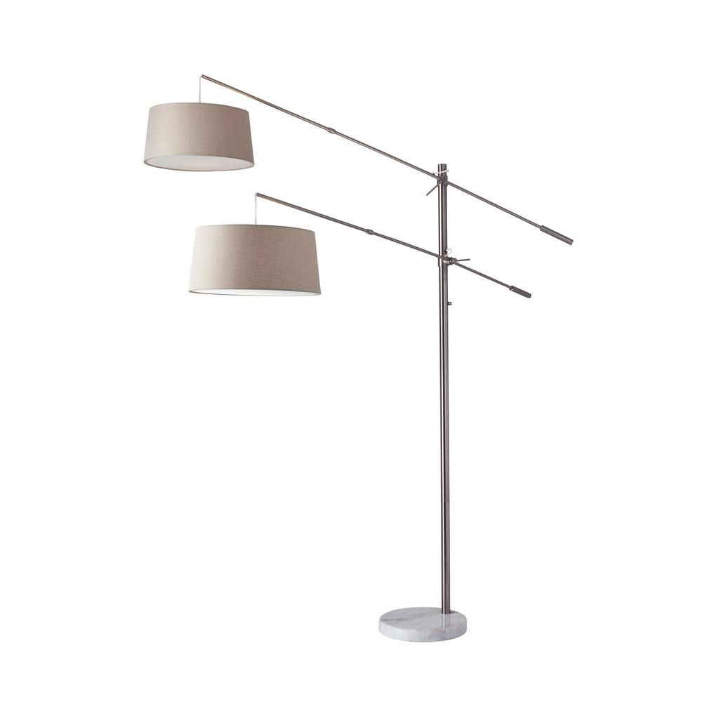 Adesso Manhattan 102 In Steel Floor Lamp 5275 22 Products intended for measurements 1000 X 1000