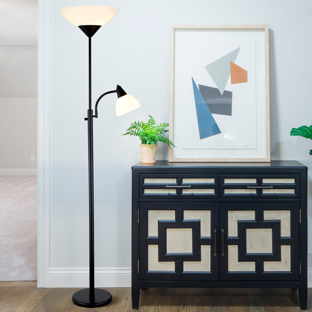 Adesso Piedmont Black Floor Lamp Cabinet Ideas