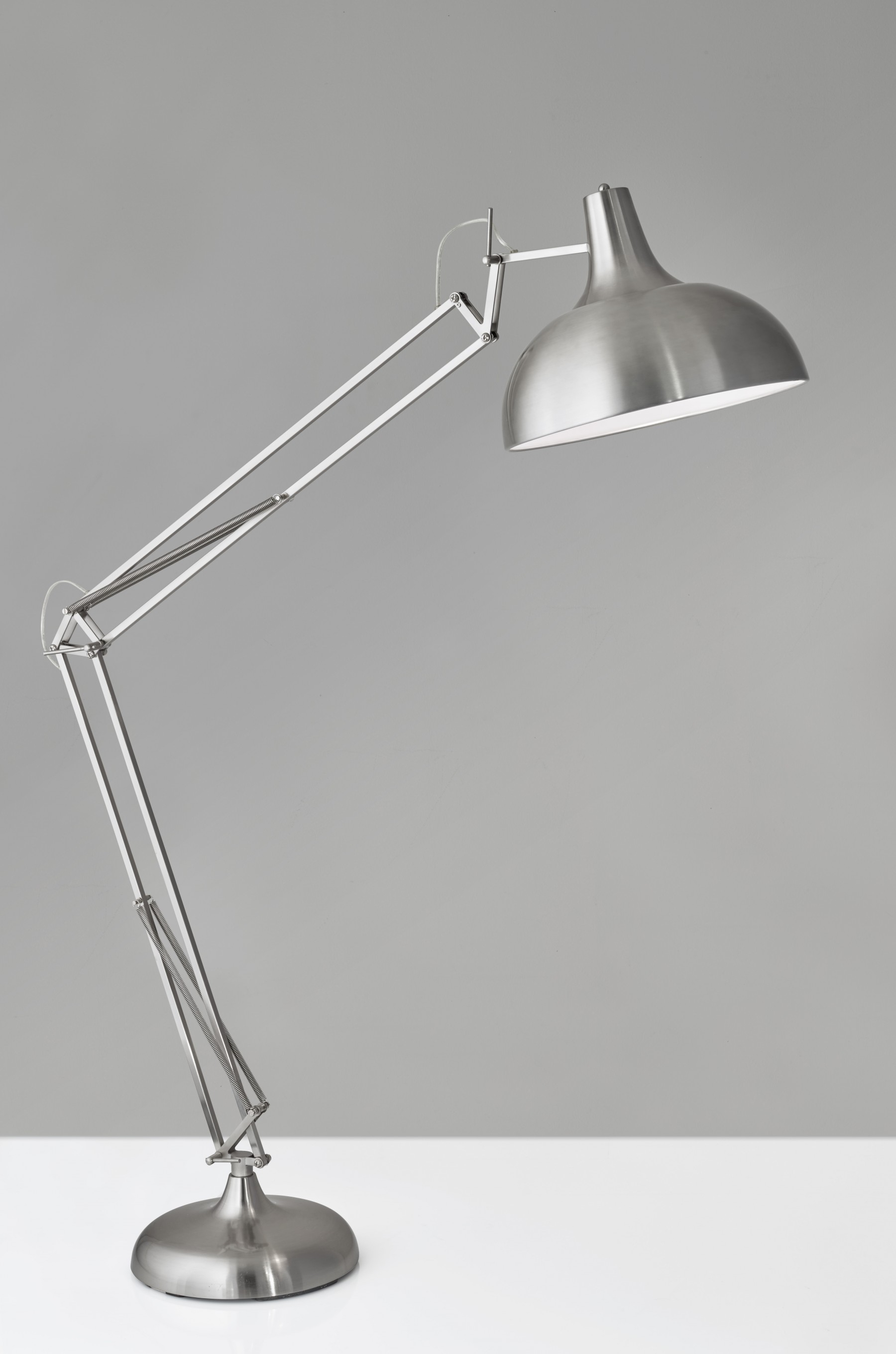 Adesso Atlas Floor Lamp Satin Steel Cabinet Ideas