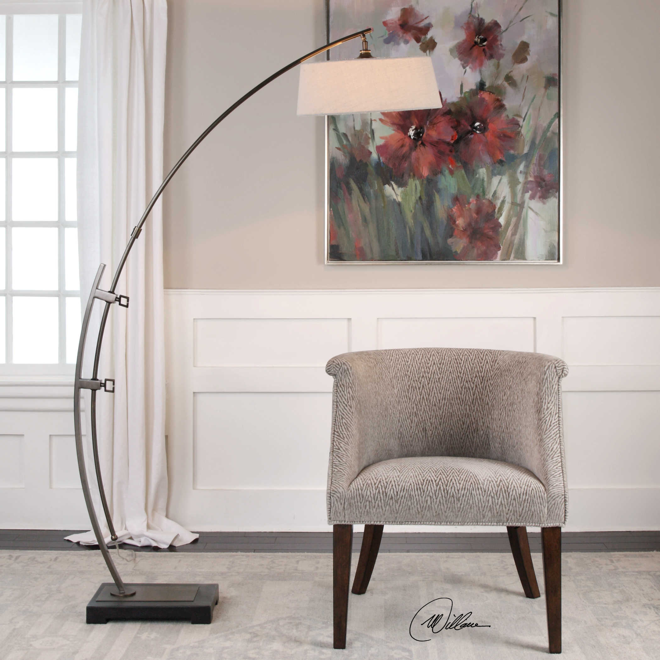 Calogero Floor Lamp Uttermost in proportions 2100 X 2100