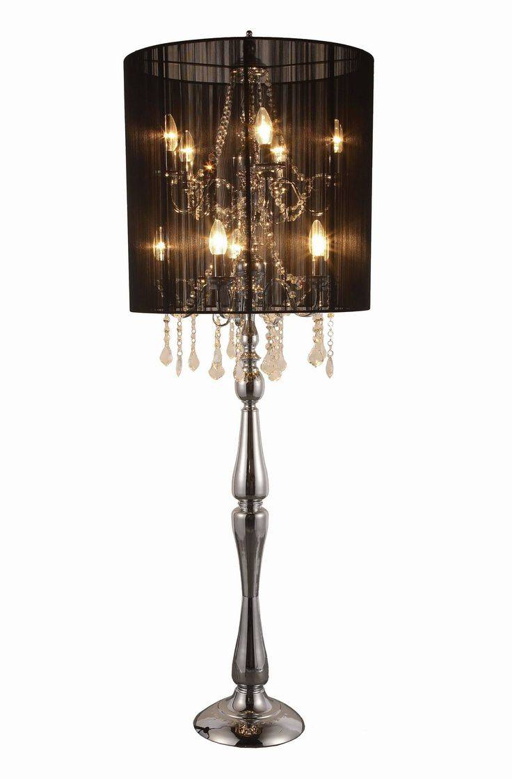 Chandelier Floor Lamp Target Scenic Gold Crystal Shades Rose in proportions 736 X 1121