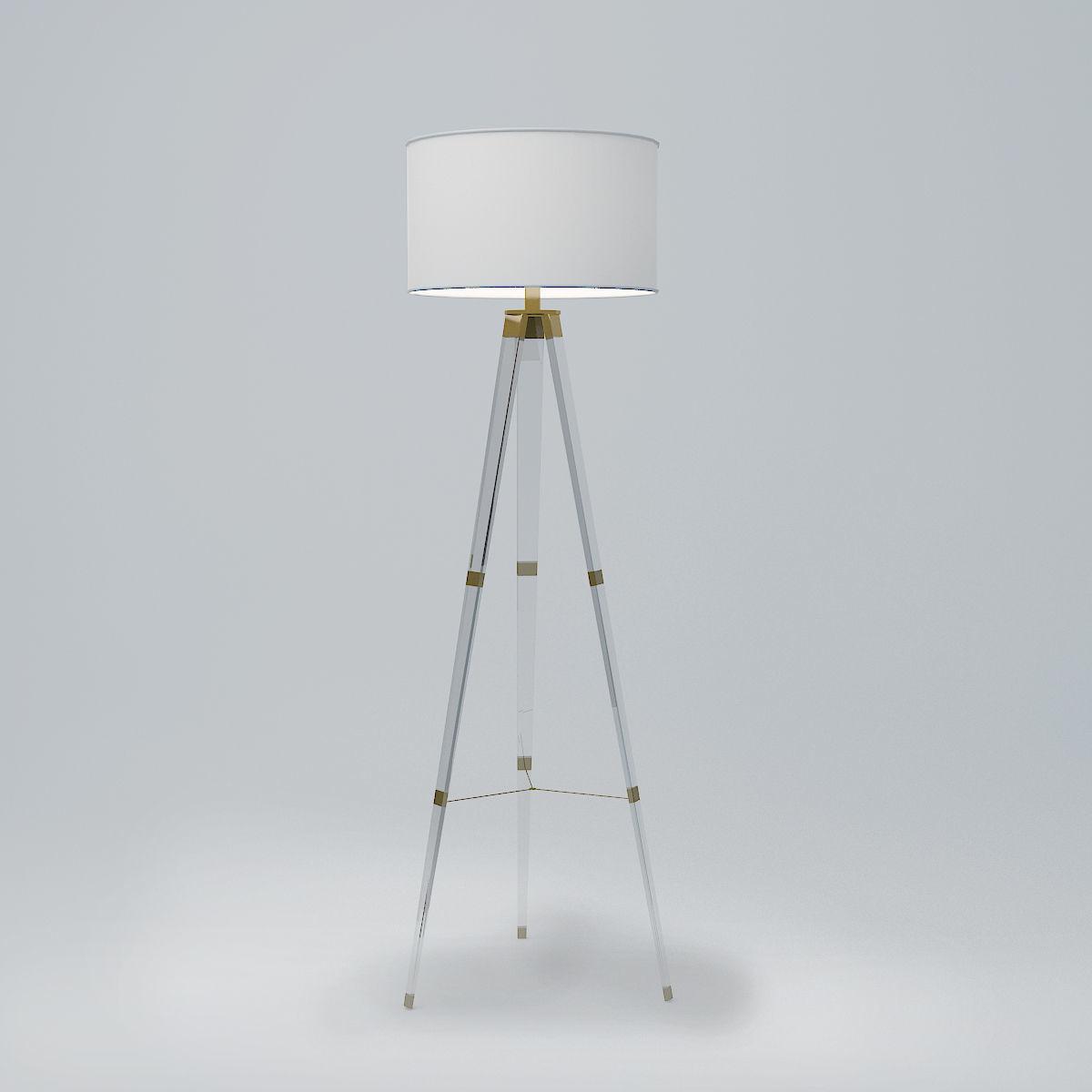 Delavan Tripod Floor Lamp 3d Model regarding dimensions 1200 X 1200