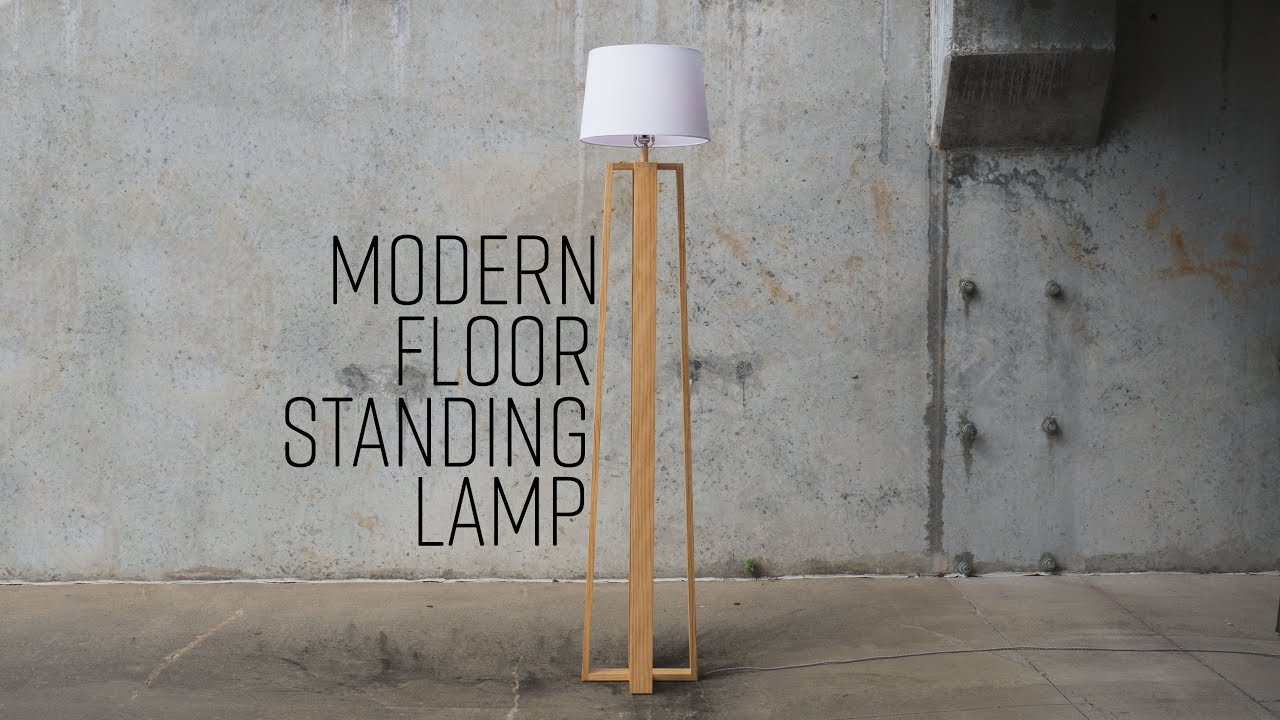 Diy Modern Floor Standing Lamp Free Plans intended for proportions 1280 X 720