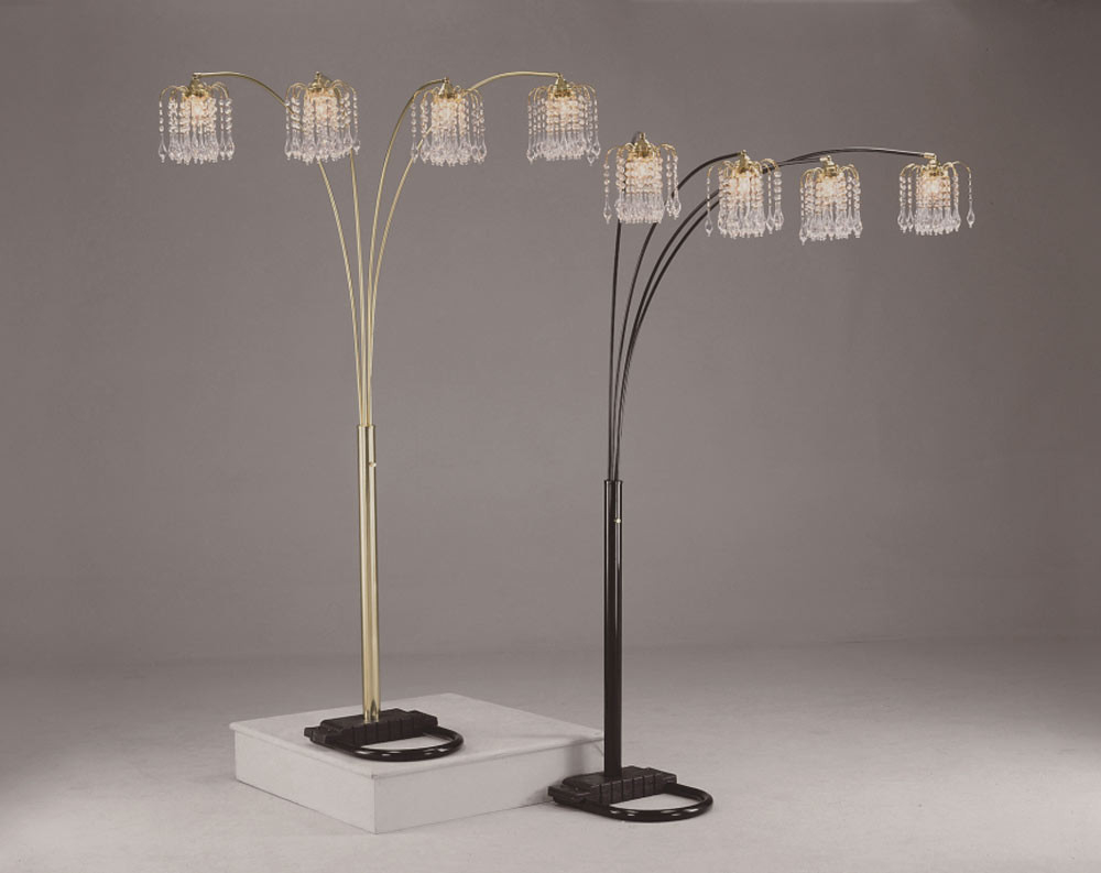 Gold Chandelier Floor Lamp intended for sizing 1000 X 793