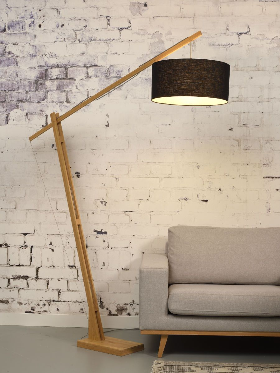 Goodmojo Mont Blanc Bamboo Floor Lamp With A Black Eco within sizing 900 X 1200
