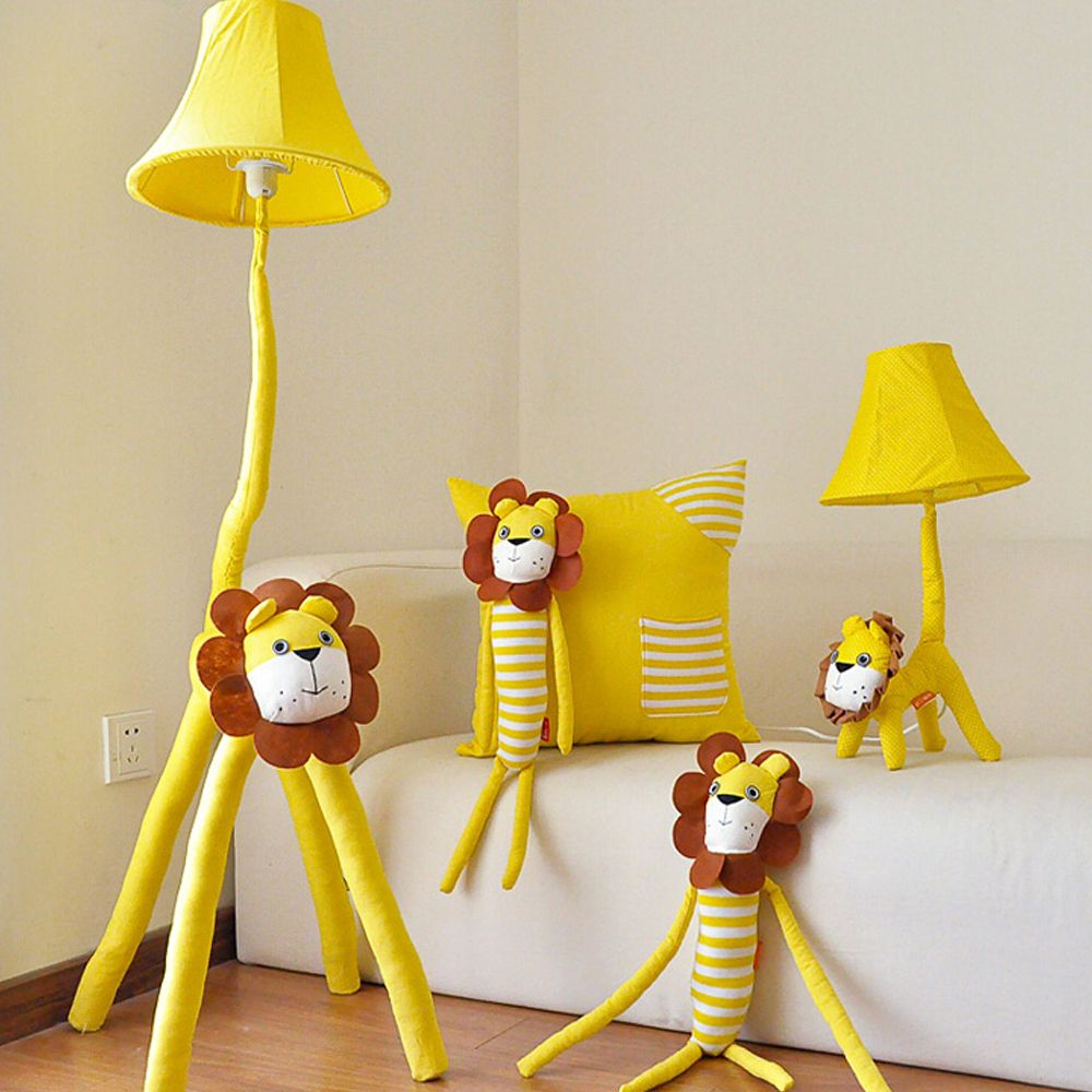 High Quality Led Yellow Lion Kids Floor Lamp Cartoon Decor throughout sizing 1000 X 1000