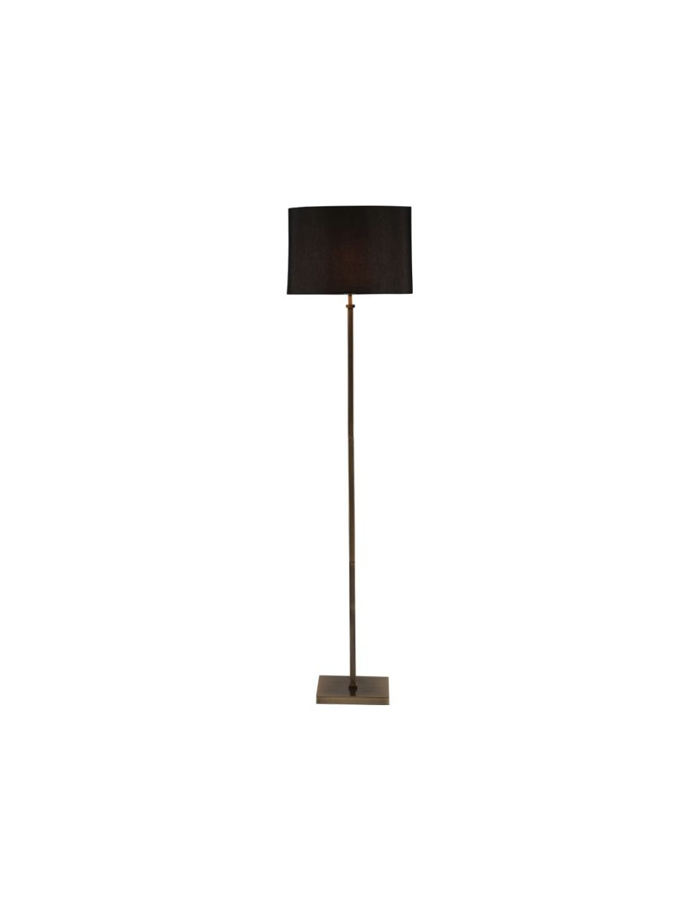 Hilton Antique Brass Square Stick Floor Lamp Black Shade 32 080 K with dimensions 1000 X 1320