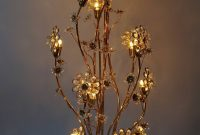 Huge Palwa Gilded Brass And Glass Flower Floor Lamp Or Table throughout measurements 1280 X 2075