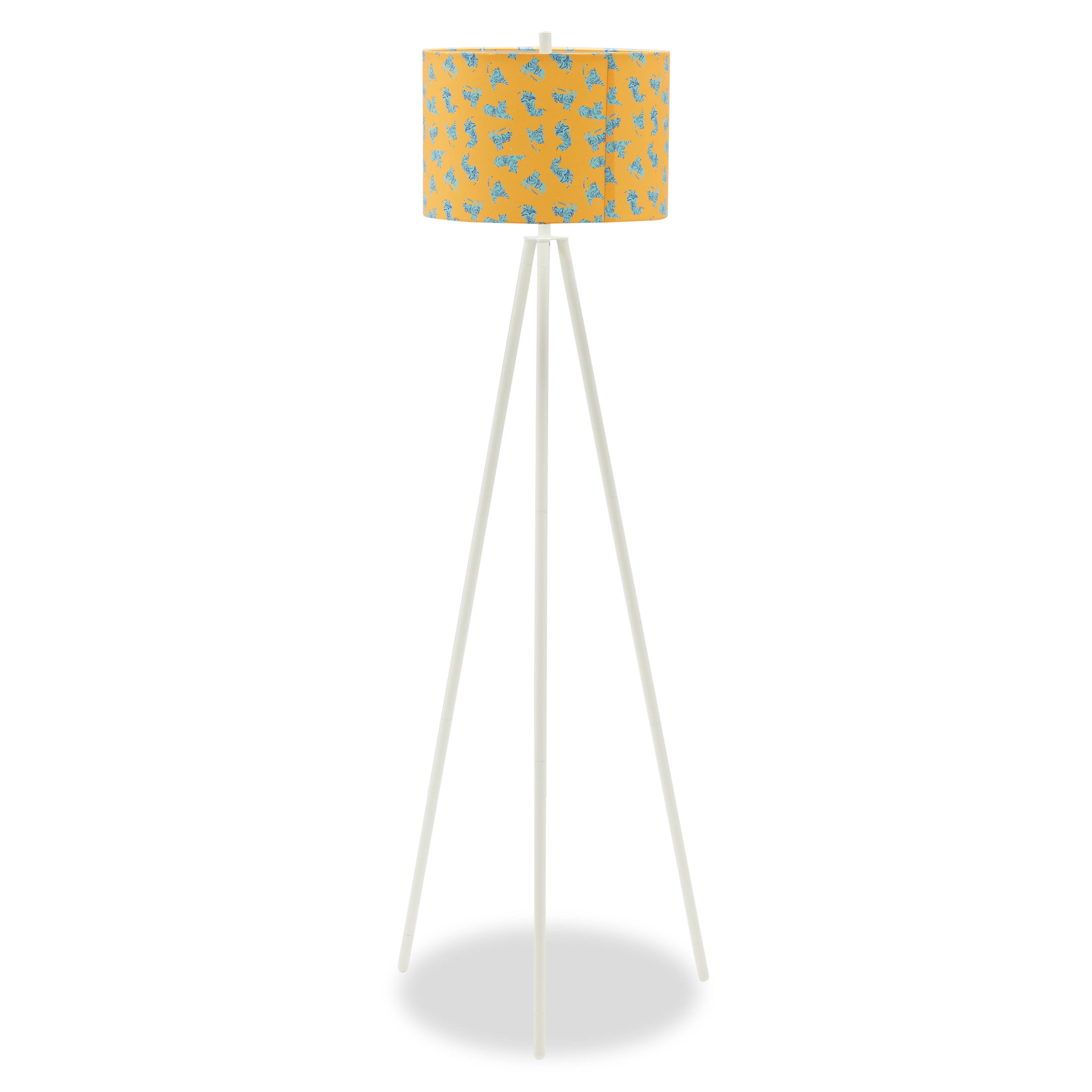 Jungle Tiger Shade With Marshmallow Tripod Floor Lamp Drew Barrymore Flower Kids Walmart with dimensions 3200 X 3200