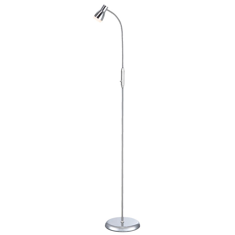 Led Floor Lamp Chrome Flexible Spot Height 150 Cm Joy pertaining to proportions 1000 X 1000